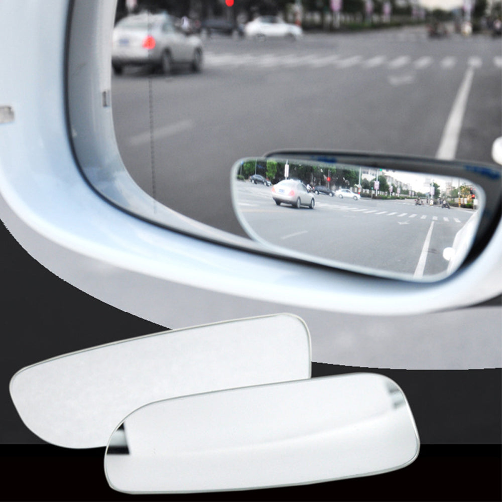 2pcs 360 Degree Adjustable Glass Frameless Car Rearview Rear View Mirror