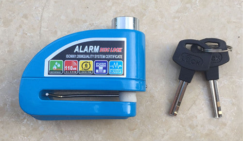 Motorcycle alarm lock bike lock security