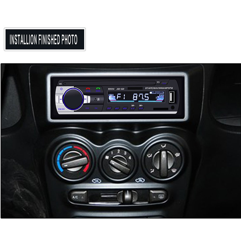 Podofo 1DIN In-Dash Car Radios Stereo Remote Control Digital Bluetooth