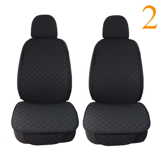 Car Seat Cover Protector Linen Front or Rear Seat Back Cushion Pad Mat Backrest
