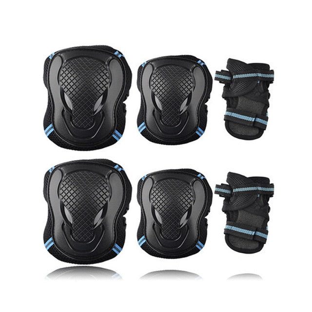 6pcs/set Skateboard Ice Roller Skating Protective Gear Elbow Pads