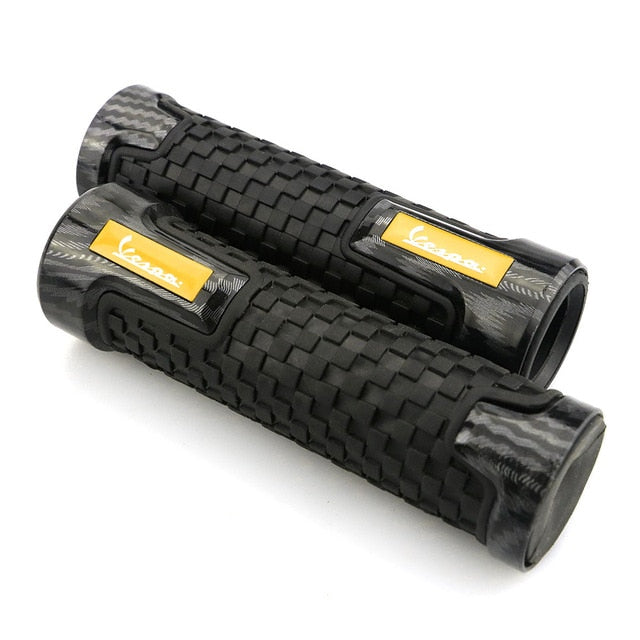 Motorcycle 22mm CNC Aluminum Rubber Gel Handle Bar Grip