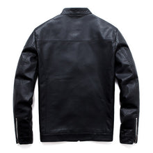 Load image into Gallery viewer, Men Faux Leather Jacket Motorcycle 5XL Men's  Jackets Black