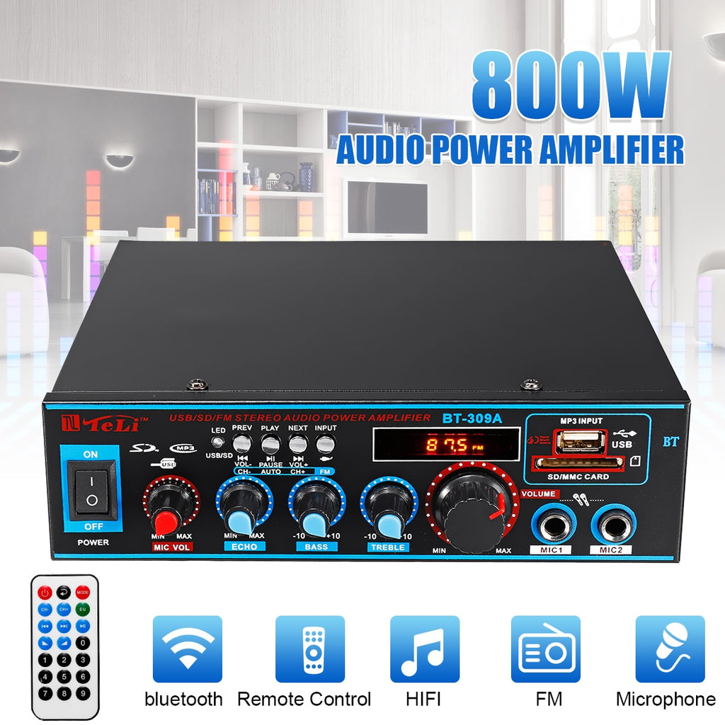 800W Car Audio Power Amplifier