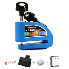 Load image into Gallery viewer, ROAOPP Motorcycle Alarm Lock Motorbike Anti-theft Alarm