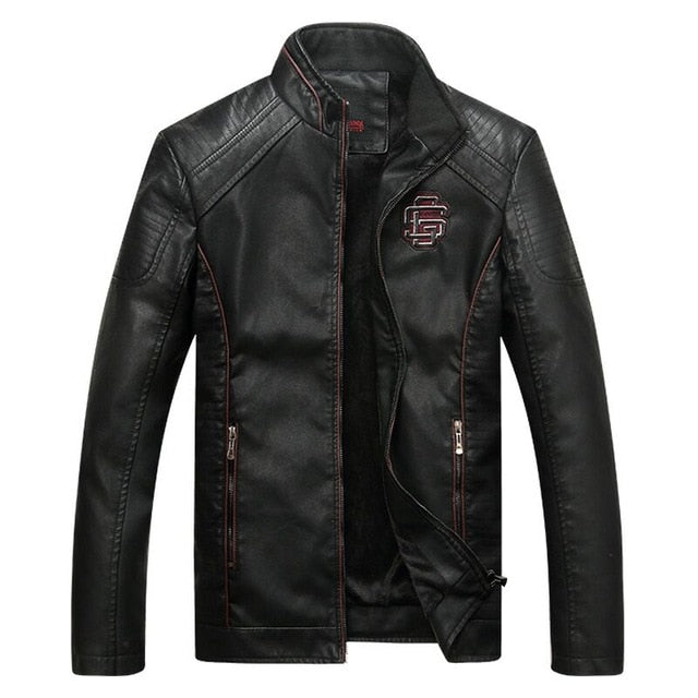 COMLION Faux Leather Jackets Men High Quality Classic