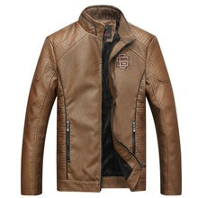 Load image into Gallery viewer, COMLION Faux Leather Jackets Men High Quality Classic