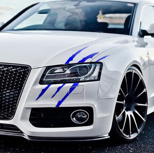 Auto Car Sticker Reflective Monster Claw Scratch Stripe Marks Headlight Decal Car Stickers