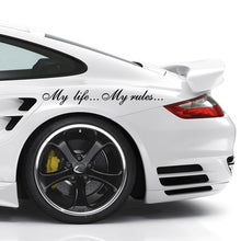 Load image into Gallery viewer, Three Ratels TZ-640 8.5*60cm 1-2 pieces My life...My rules... Car stickers