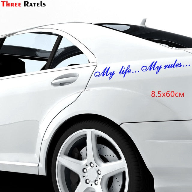 Three Ratels TZ-640 8.5*60cm 1-2 pieces My life...My rules... Car stickers