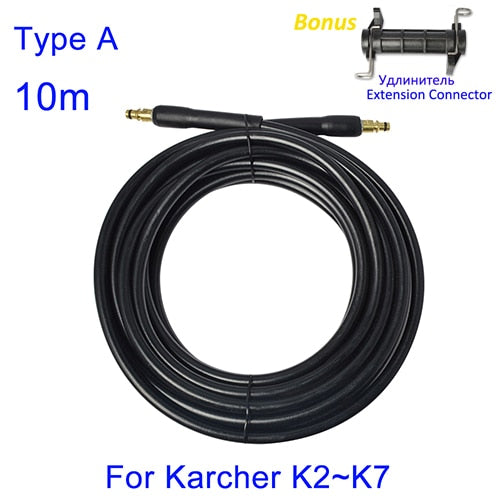 6~15 meters High Pressure Washer Hose Pipe Cord Car Washer Water Cleaning Extension