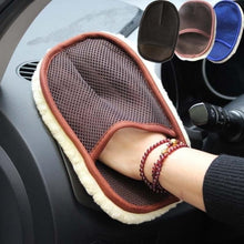 Load image into Gallery viewer, Cleaning Brushes Polishing Mitt Wool Washing hand Glove Sponge for car and motorcycle