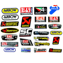 Load image into Gallery viewer, OLPAY Motorcycle Exhaust Pipes Decal Sticker Aluminium 3D