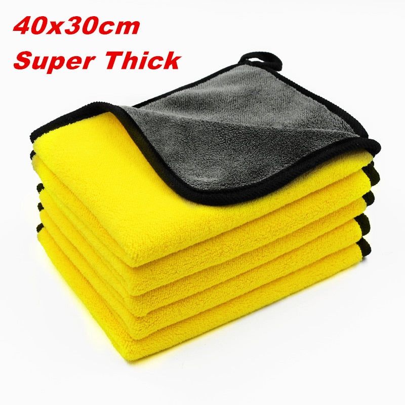 5 pcs 600gsm Motorcycle and Car Wash Microfiber Towels Super Thick