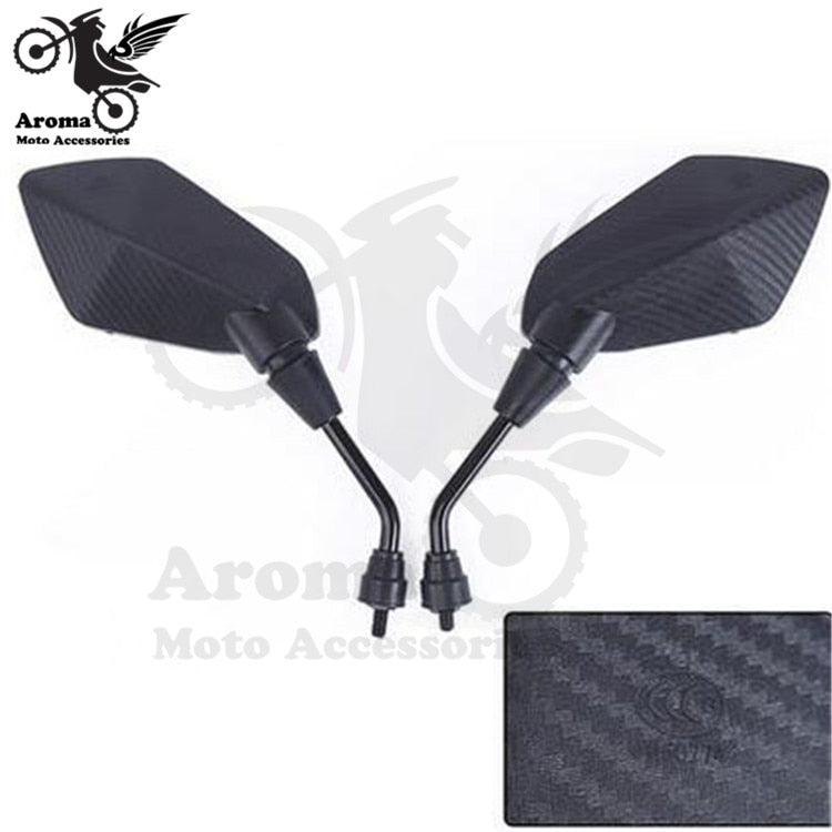 Black carbon fibre color universal motorbike side mirror