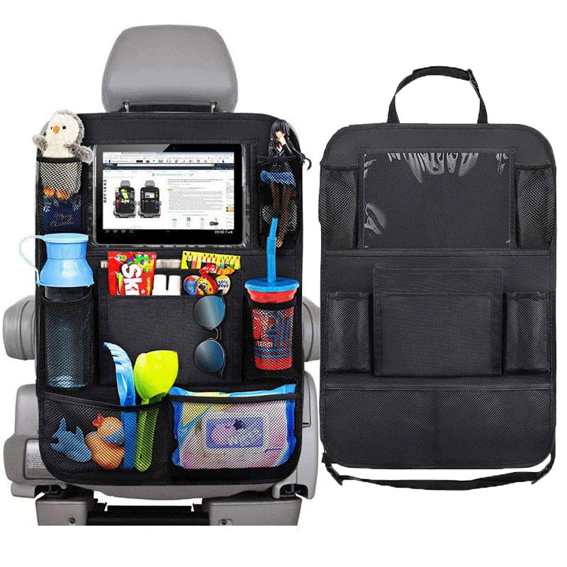 Universal Car Seat Back Organizer Multi-Pocket Storage Bag Tablet Holder