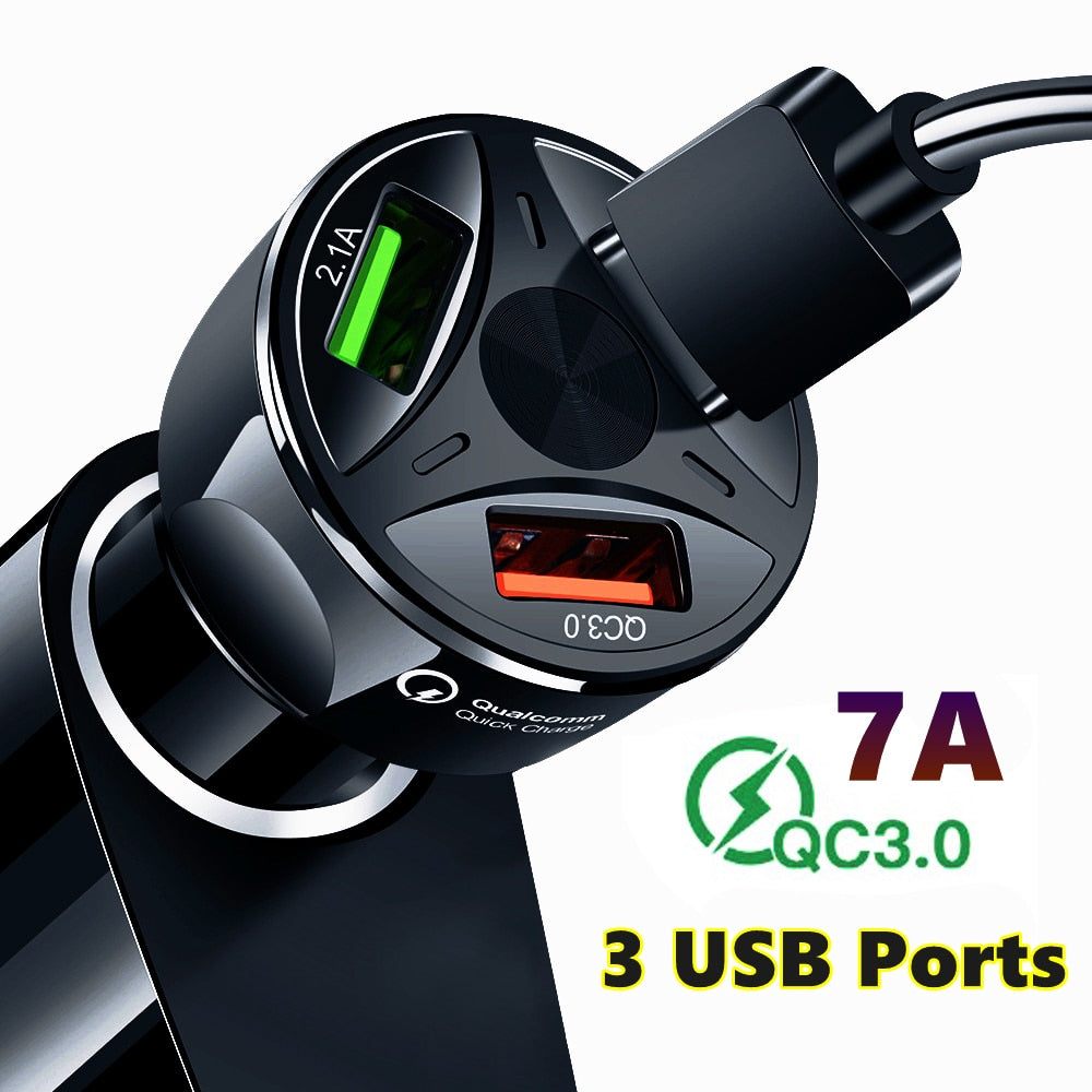 Car Charger USB Quick Mobile Charger QC3.0