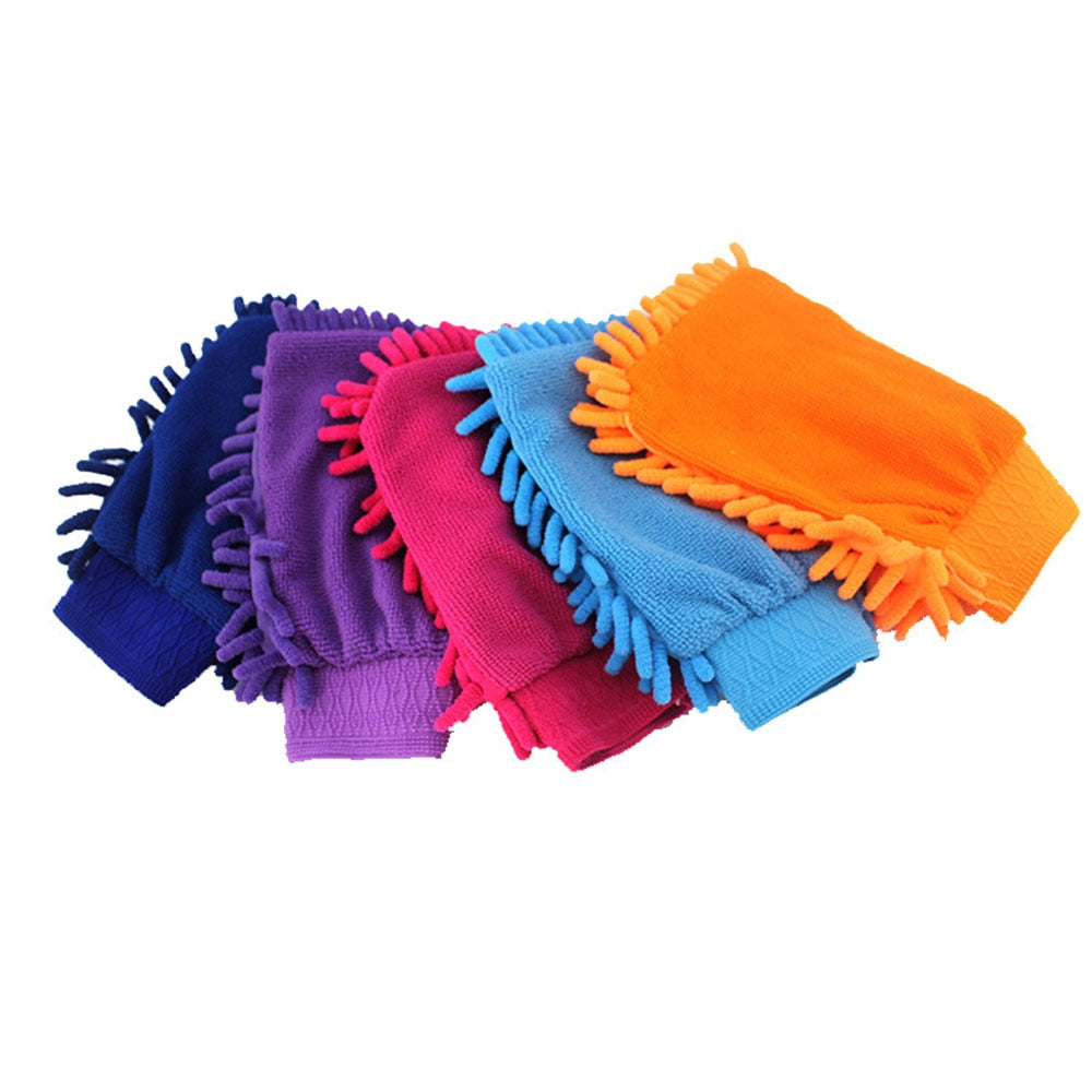Microfiber Car and Motorcycle Cleaning Clay BarCar Detailing Chenille Glove