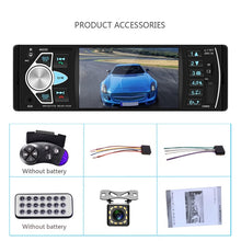 "Load image into Gallery viewer, AMPrime Autoradio 4022D 4.1"" 1 Din Car Radio Audio Stereo USB AUX FM Audio Player"