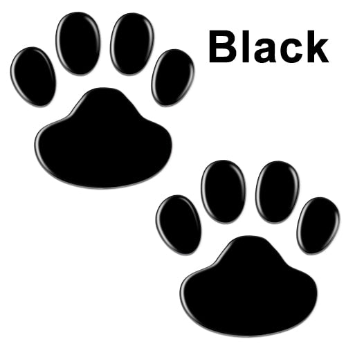 2Pcs/Set Car Sticker Cool Design Paw 3D Animal Dog Cat Bear Foot Prints