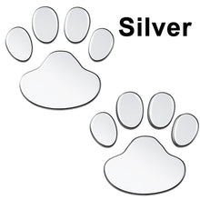 Load image into Gallery viewer, 2Pcs/Set Car Sticker Cool Design Paw 3D Animal Dog Cat Bear Foot Prints