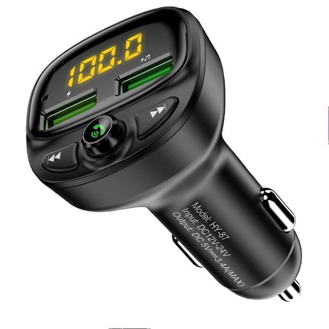 FLOVEME USB Car Charger For Phone Bluetooth Wireless FM Transmitter MP3 Player