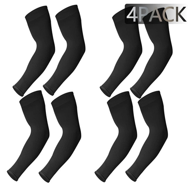 4 Pairs Unisex Cooling Arm Sleeves Cover Cycling Running UV Sun Protection
