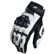 Load image into Gallery viewer, Motorcycle Gloves black Racing Genuine Leather