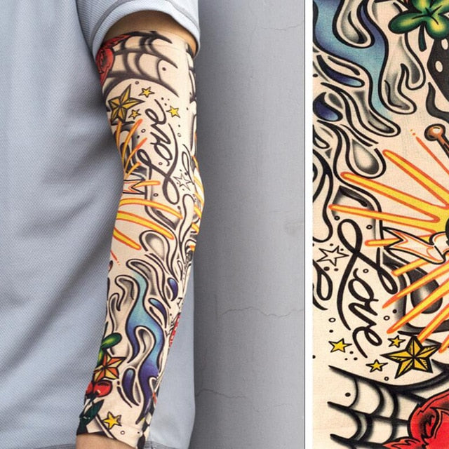 1PC Breathable 3D Tattoo UV Protection Arm Sleeve