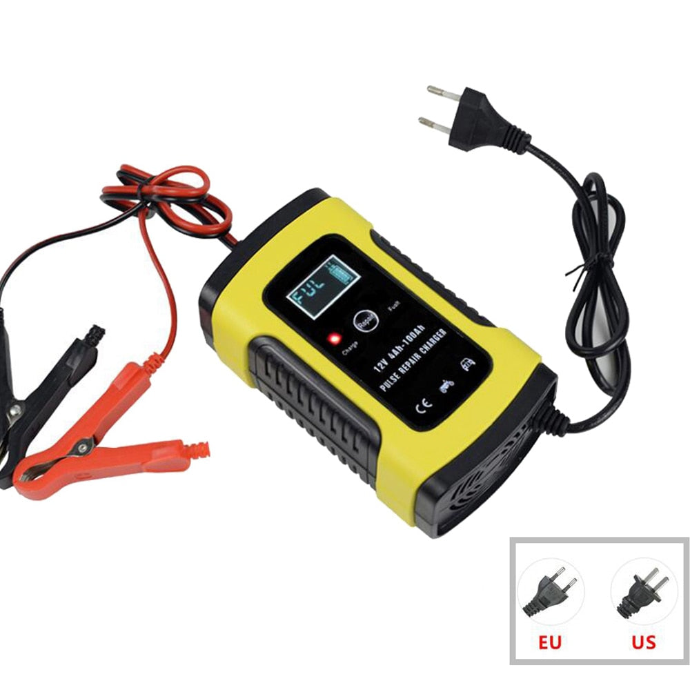 12V 6A Intelligent Car Motorcycle Battery Charger