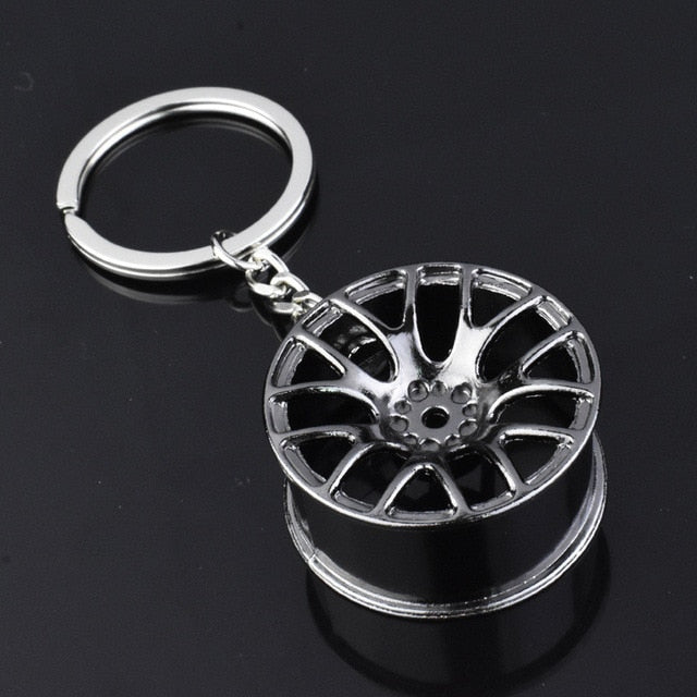 Auto Turbo Hub Key Chain Wheel Rim