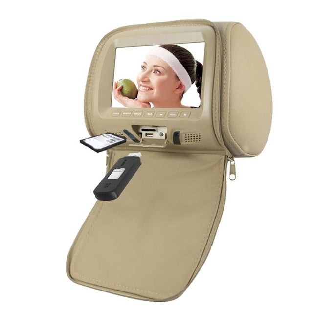 Universal 7 Inch Car Headrest Monitor Rear Seat Entertainment Multimedia MP3/MP4/FM/Video