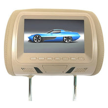 Load image into Gallery viewer, Universal 7 Inch Car Headrest Monitor Rear Seat Entertainment Multimedia MP3/MP4/FM/Video