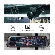 Load image into Gallery viewer, 2020 New 9.35 Inch Full Screen 70mai Rearview Dash Cam Wide 1080P
