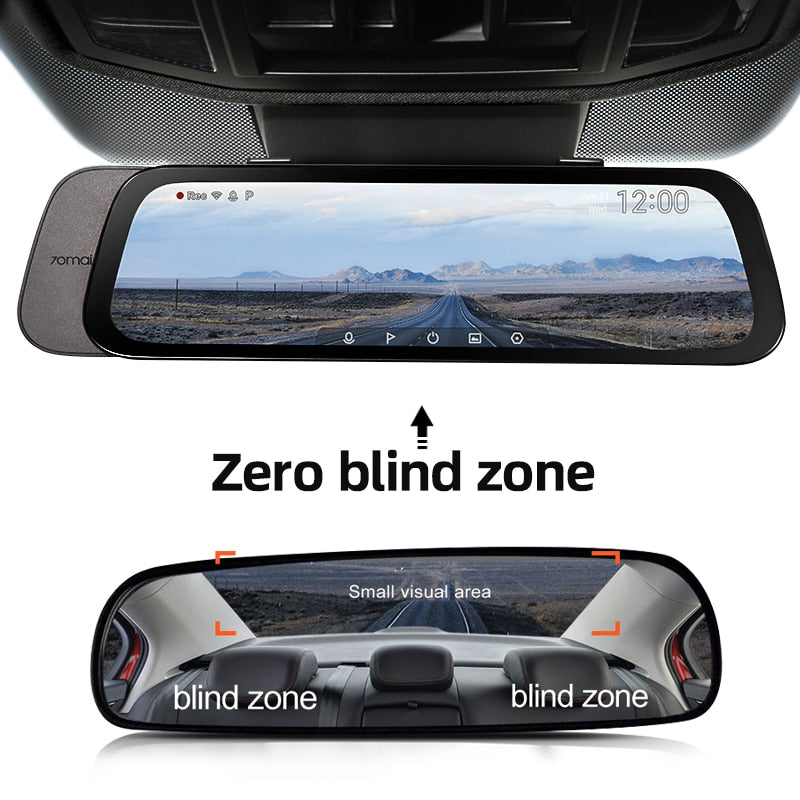 2020 New 9.35 Inch Full Screen 70mai Rearview Dash Cam Wide 1080P