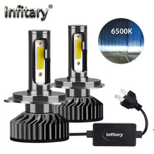 Load image into Gallery viewer, Infitary Mini H4 H7 LED Car Headlight Bulb