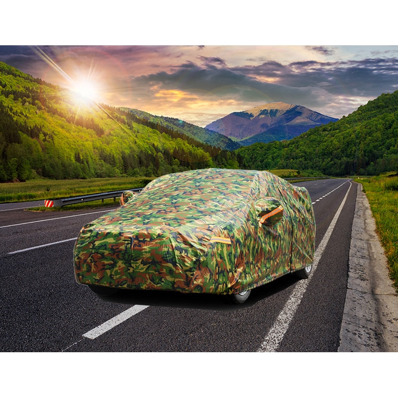Kayme waterproof camouflage car covers outdoor sun protection