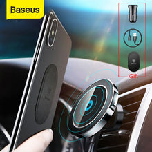 Load image into Gallery viewer, Baseus Car Qi Wireless Charger Holder For iPhone 11 X 8 8Plus Magnetic 360 Rotation