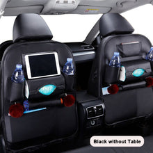 Load image into Gallery viewer, Car Seat Back Organizer Pu Leather Pad Bag Car Storage Organizer Foldable Table