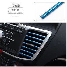 Load image into Gallery viewer, 10pcs 20cm Car Styling Mouldings Air Outlet Chrome Trims Strip