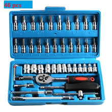 Load image into Gallery viewer, 46pcs Socket Ratchet Car Repair Tool Wrench Set