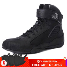 Load image into Gallery viewer, ARCX Motorcycle Boots Breathable Men Moto Boots Black Motorcycle Riding