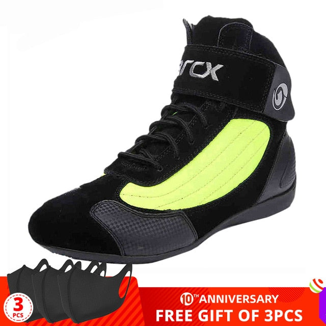 ARCX Motorcycle Boots Breathable Men Moto Boots Black Motorcycle Riding