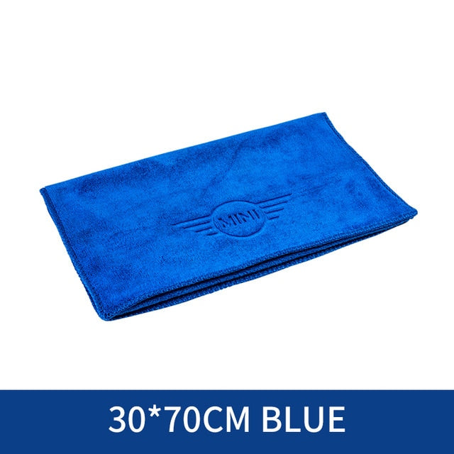 Auto Soft Cloth Washing Quick Dry Cleaning Microfiber Towels with Bmw, Mini logo