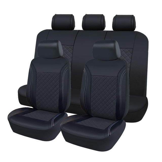 AUTOROWN PU Leather Auto Car Seat Covers Universal