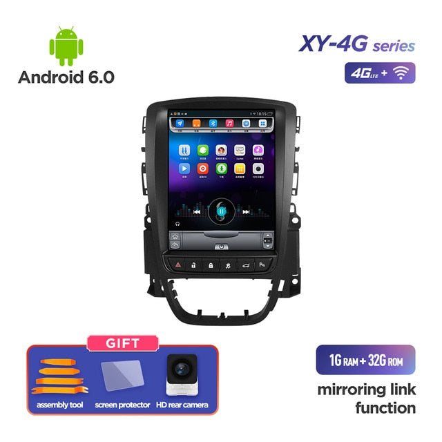 4G RAM Vertical screen android 10.0 system car GPS multimedia video radio player in dash for opel ASTRA