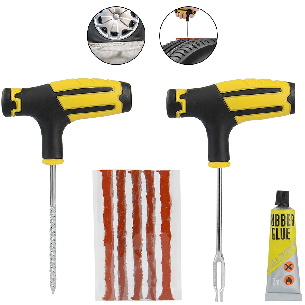 Car Tire Repair Kit  Tool Puncture Plug