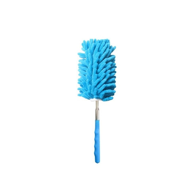 Adjustable Microfiber Dusting Brush Extend Stretch Feather