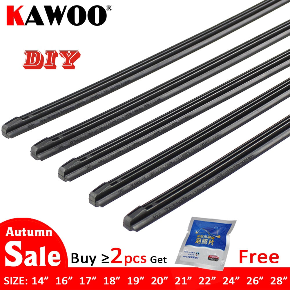 KAWOO Car Vehicle Insert Rubber strip Wiper Blade (Refill)