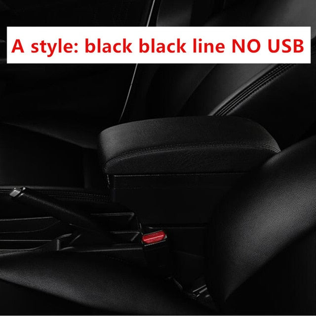 Car-styling Arm rest box center console USB accessories